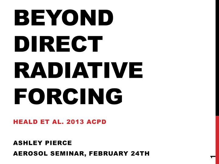 beyond direct radiative forcing n.