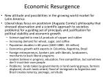 economic resurgence