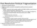 post revolution political fragmentation