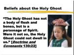 beliefs about the holy ghost