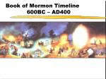 book of mormon timeline 600bc ad400