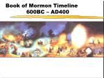 book of mormon timeline 600bc ad400
