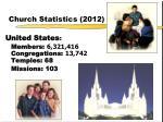 church statistics 2012
