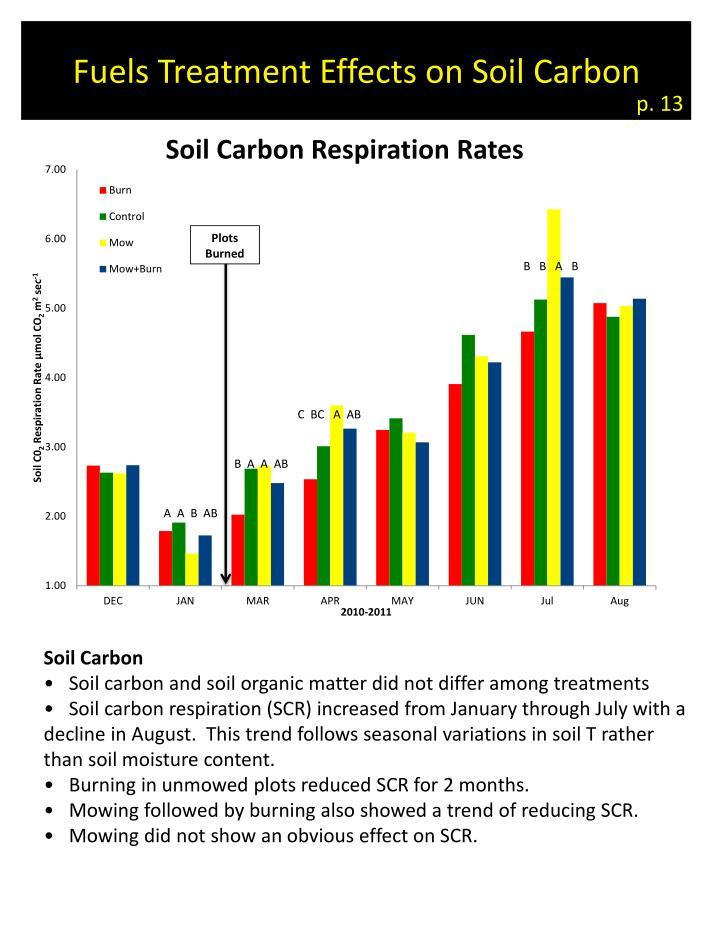 Fuels Treatment Effects on Soil Carbon