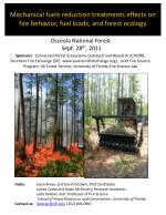 m echanical fuels reduction treatments effects on fire behavior fuel loads and forest ecology
