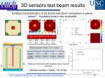 3d sensors test beam results