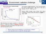 environment radiation challenge