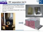 rf separation foil ii