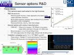 sensor options r d