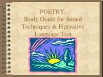 poetry study guide for sound techniques figurative language test