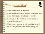 what is repetition