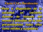 factor 3 la pluralizaci n