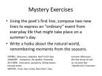 mystery exercises