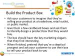 build the product box