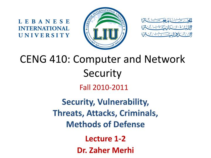 ceng 410 computer and network security n.