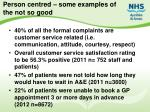 person centred some examples of the not so good