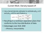 current work density based lr1