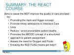 summary the react course