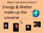 what is the atomic theory