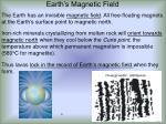 earth s magnetic field