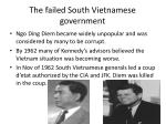the failed south vietnamese government