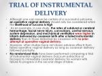 trial of instrumental delivery