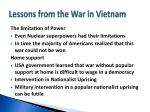 lessons from the war in vietnam