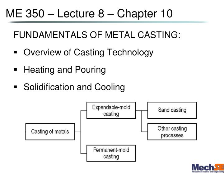 me 350 lecture 8 chapter 10 n.