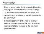 riser design