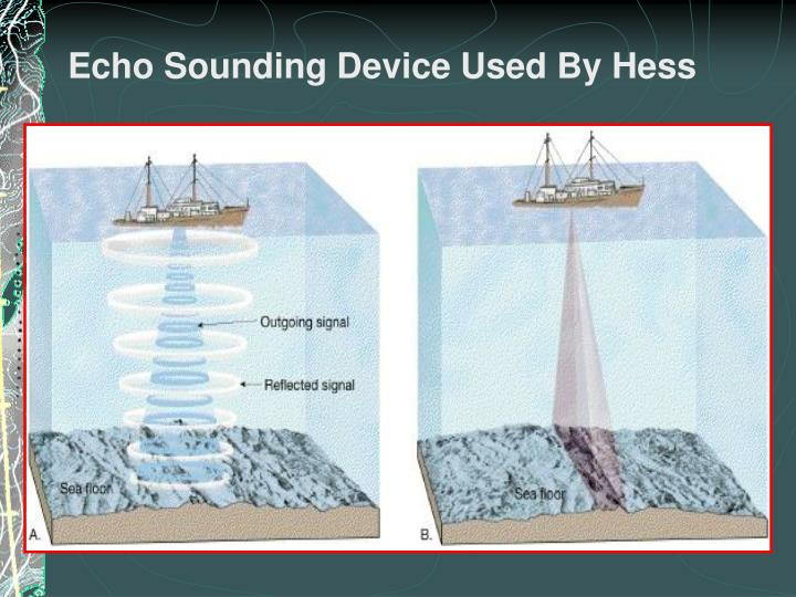 Echo Sounding Device Used By Hess