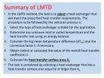 summary of lmtd