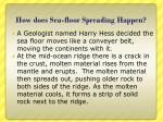 how does sea floor spreading happen