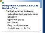 management function level and decision type1