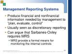 management reporting systems