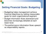 setting financial goals budgeting