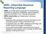 xbrl extensible business reporting language