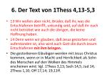 6 der text von 1thess 4 13 5 3