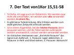 7 der text von1kor 15 51 58