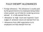 fully exempt allowances