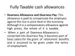 fully taxable cash allowances