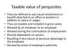 taxable value of perquisites