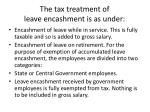 the tax treatment of leave encashment is as under