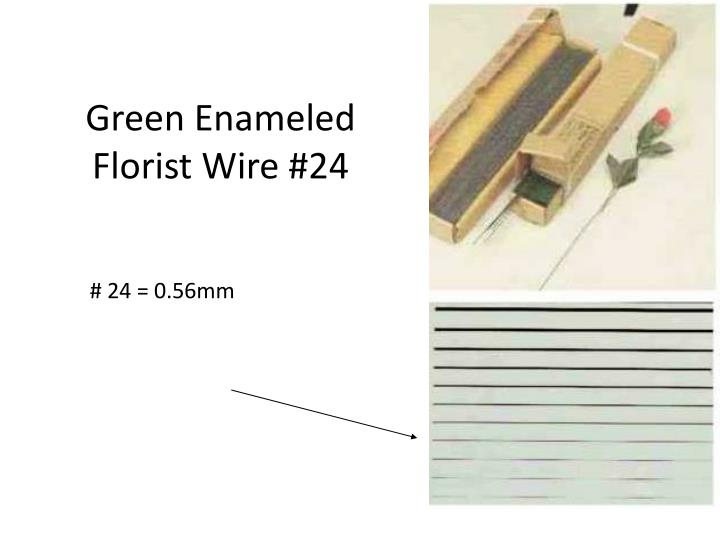 Green enameled florist wire 24