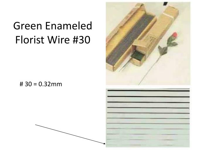Green Enameled Florist Wire #30