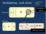 multiplexing look closer