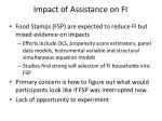 impact of assistance on fi
