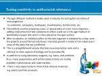 testing sensitivity to antibacterial substances