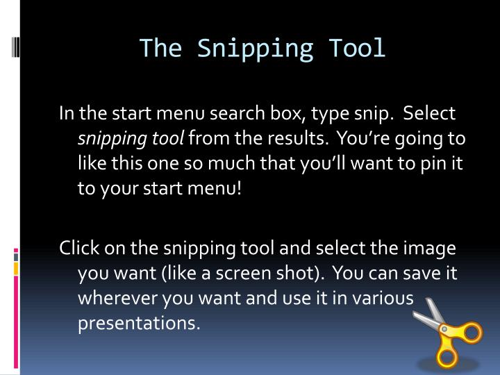 The Snipping Tool