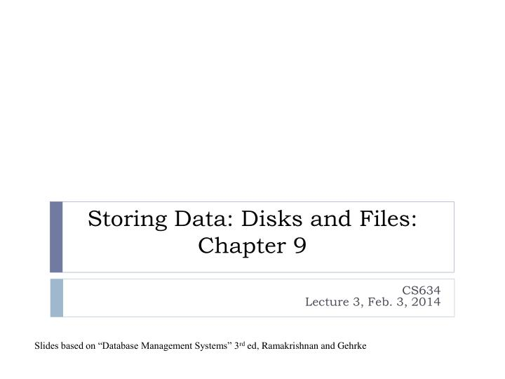 storing data disks and files chapter 9 n.
