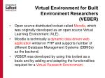 virtual environment for built environment researchers veber2